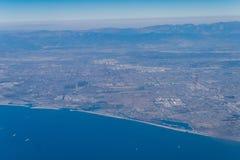 Vue aérienne du rivage du comté de Los Angeles Image libre de droits
