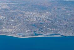 Vue aérienne du rivage du comté de Los Angeles Photos libres de droits