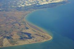 Vue aérienne du Royaume-Uni Images stock