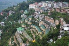 Vue aérienne du Sikkim photos stock