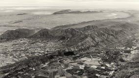 Vue aérienne du terrain montagneux photo libre de droits