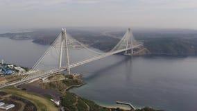 Vue aérienne du troisième pont d'Istanbul banque de vidéos