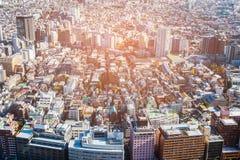 Vue aérienne Japon de résidence de Tokyo photographie stock libre de droits