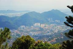 Vue aérienne le beau paysage de Penang image stock