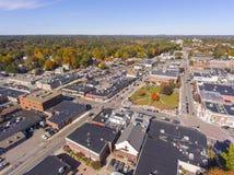 Vue aérienne Newton, mA, Etats-Unis de bâtiments historiques photos libres de droits