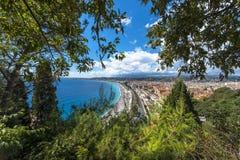 Vue aérienne Nice de côte Images stock
