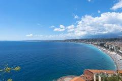 Vue aérienne Nice de côte Image libre de droits