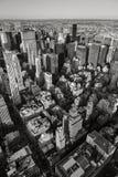 Vue aérienne noire et blanche de NYC New York vertical photo libre de droits