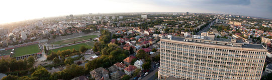 Vue aérienne panoramique de Bucarest Photo libre de droits