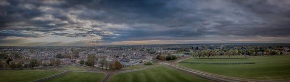 Vue aérienne panoramique de Newmarket Photos libres de droits