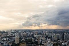 Vue aérienne panoramique de Singapour Image stock