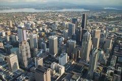 Vue aérienne - Seattle du centre Photos stock