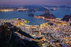 Vue aérienne spectaculaire au-dessus de Rio de Janeiro photo libre de droits