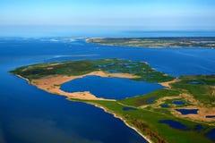 vue aérienne Struck en mer baltique Photographie stock