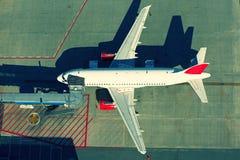 Vue aérienne sur l'aéroport Image stock