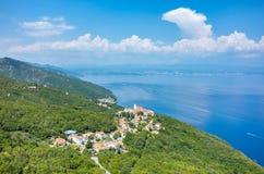 Vue aérienne sur la baie Italie Photos stock