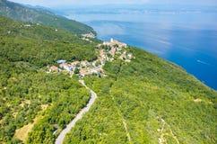 Vue aérienne sur la baie Italie Photos libres de droits