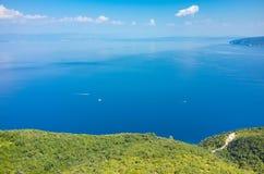Vue aérienne sur la baie Italie Images libres de droits