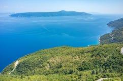 Vue aérienne sur la baie Italie Image libre de droits