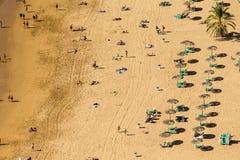 Vue aérienne sur la plage Ténérife, Espagne de Teresitas Photo libre de droits