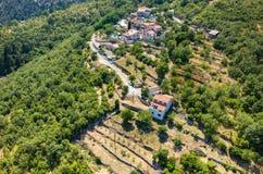 Vue aérienne sur la ville Italie Photo stock