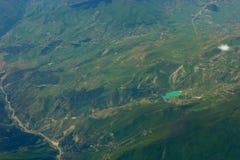 Vue aérienne sur le coût Image libre de droits