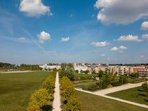 Vue aérienne sur le parc de Scharnhauser près de Stuttgart, Allemagne image stock