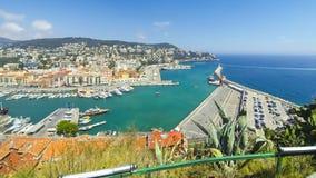 Vue aérienne sur le port de la Côte d'Azur agréable et, France banque de vidéos