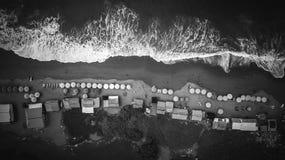 Vue aérienne sur le rivage d'océan Photos libres de droits