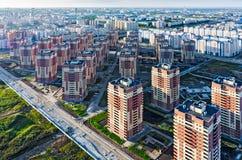 Vue aérienne sur le voisinage de sommeil Tyumen Images libres de droits