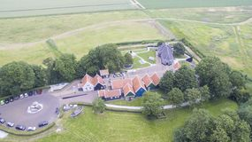 Vue aérienne sur Schokland photos stock
