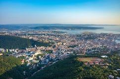 Vue aérienne sur Trieste Photos stock
