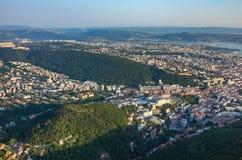 Vue aérienne sur Trieste Images libres de droits