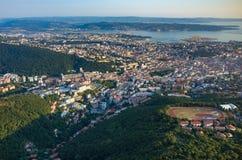 Vue aérienne sur Trieste Image libre de droits