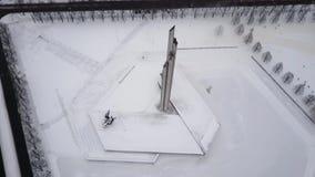 Vue aérienne sur Victory Park, Riga, Lettonie banque de vidéos
