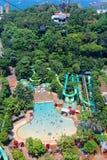 Vue aérienne, tours de l'eau, station de vacances de Sentosa photos stock
