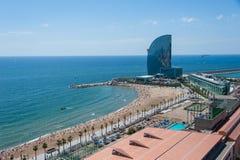 Vue aérienne vers Barcelone Photographie stock libre de droits