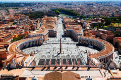 Vue aérienne vers Ville du Vatican à Rome Images libres de droits