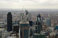 Vue aérienne, ville de Londres Photographie stock libre de droits