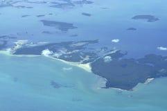 Vue aéroportée d'île Photos libres de droits