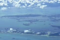 Vue aéroportée d'île Images libres de droits