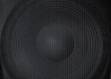 Vue abstraite d'un grand, grand haut-parleur puissant avec le gril protecteur détaillé en métal dans l'avant image stock