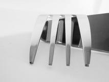 Vue abstraite d'une fourchette Photo libre de droits