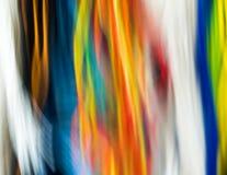Vue abstraite des fils dans beaucoup de différentes couleurs Photographie stock
