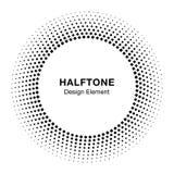 Vue abstraite noire de cercle Dots Logo Design Element tramé pour le traitement médical Photographie stock