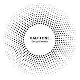 Vue abstraite noire de cercle Dots Logo Design Element tramé pour le traitement médical Photo stock