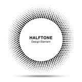 Vue abstraite noire de cercle Dots Logo Design Element tramé pour le traitement médical, cosmétique Photo libre de droits