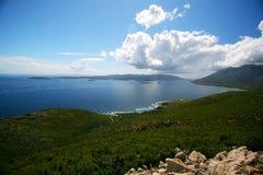 Vue adriatique de côte photographie stock