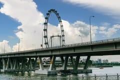 Vue, affaires centrales de bâtiments et points de repère de Singapour Images libres de droits