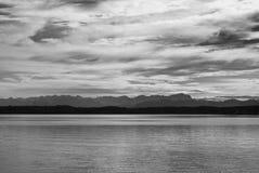 Vue alpestre de lac Starnberg Photo stock